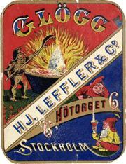 Glöggetikett från 1800-talet