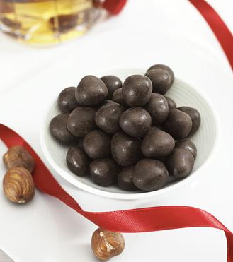 Vanilj/apelsindragerade Hasselnötter