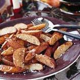Kaneldoftande potatisklyftor
