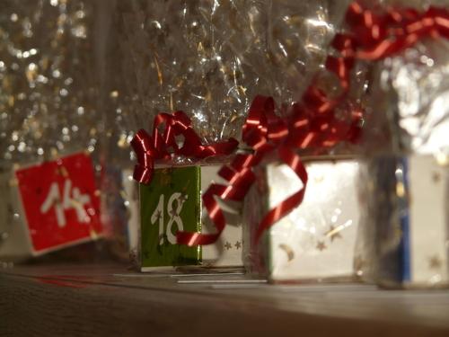 Julkalender med paket