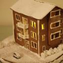 Pepparkakshus snölandskap