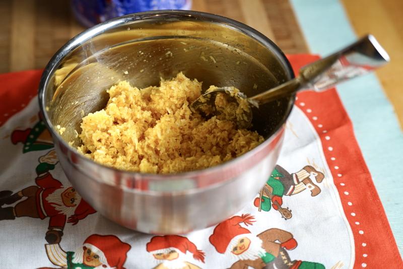Smet till kokostoppar med saffran
